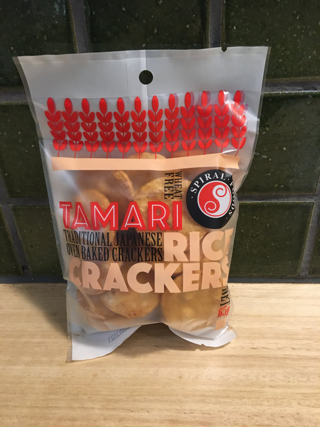 Spiral Rice Crackers Tamari 65g