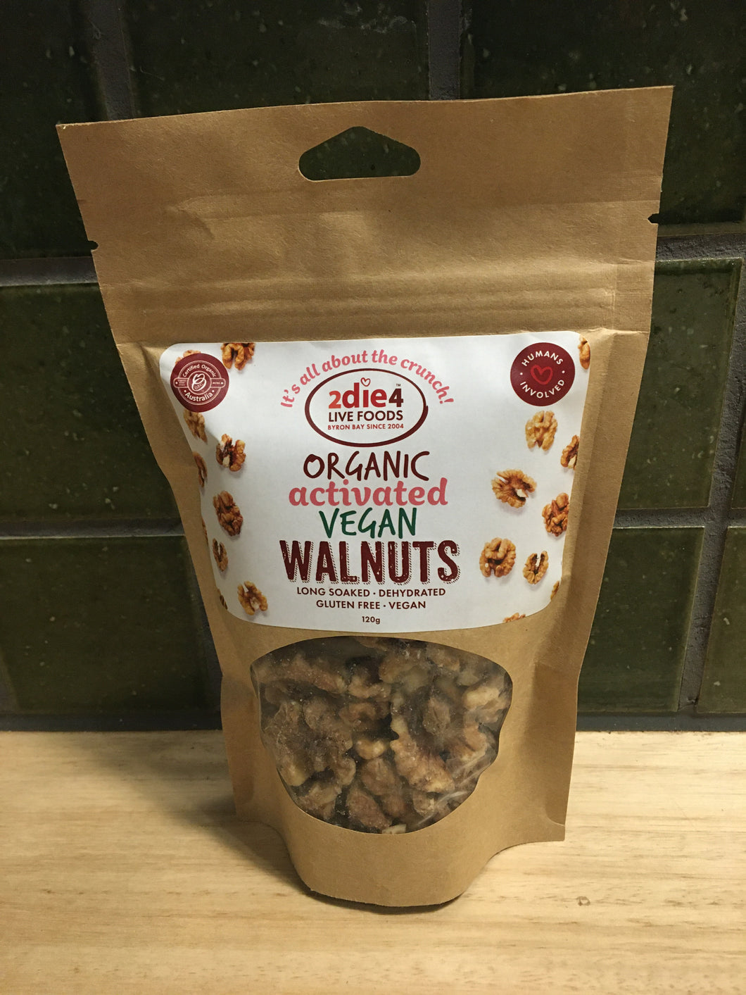 2die4 Activated Organic Walnuts 120g