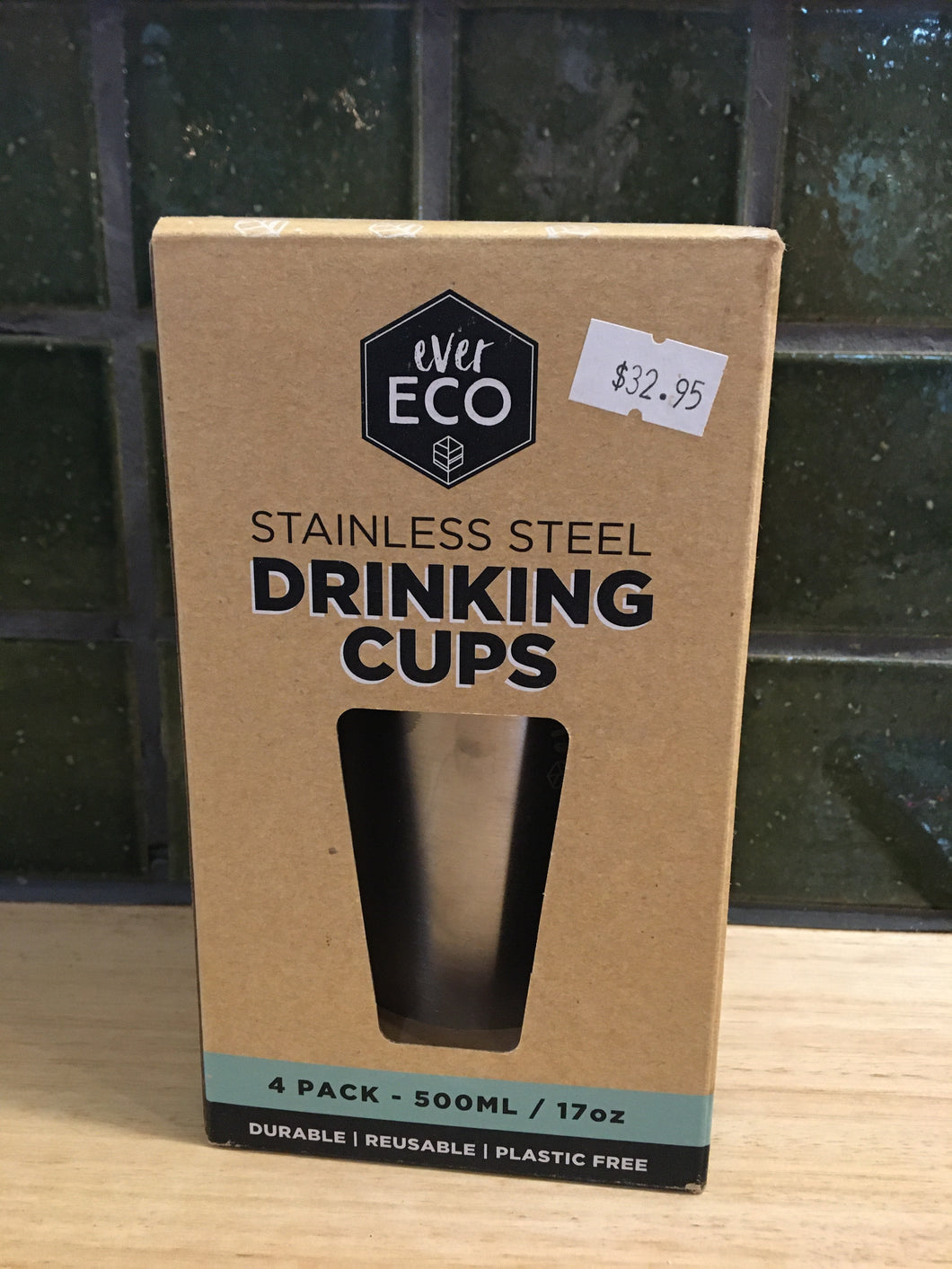 Ever Eco Stainless Steel Drinking cups 4pack 17oz