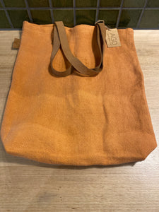 AGD Jute Leather Handle Tote - Turmeric