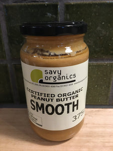 Savy Organics Smooth Peanut Butter 375g