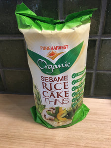 Pure Harvest Organic Sesame Rice Cakes Thins 150g