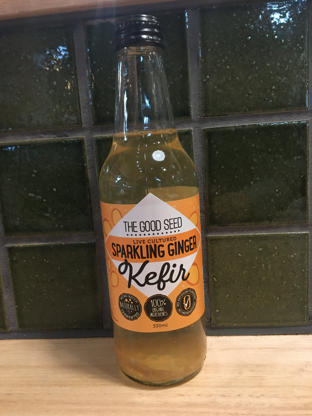 The Good Seed Kefir Sparkling Ginger 330mL