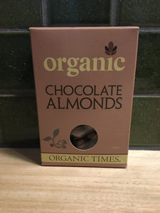 Organic Times Milk Choc Almonds 150g