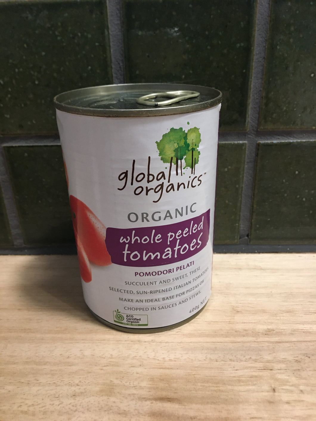 Global Organics Tomatoes Whole 400g