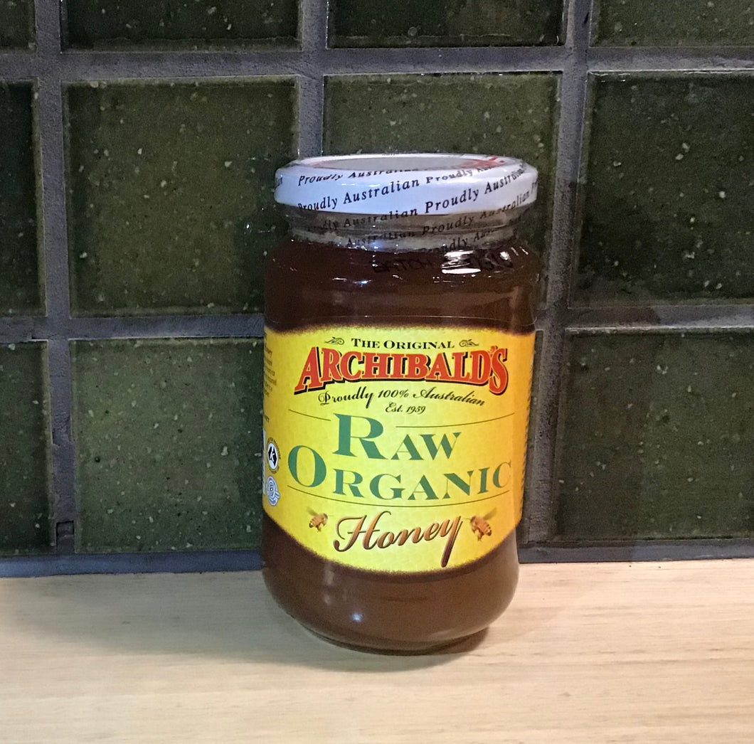 Archibalds Honey Raw Organic 500g