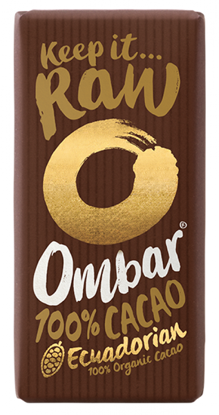 Ombar Organic 100% chocolate (raw) 35G