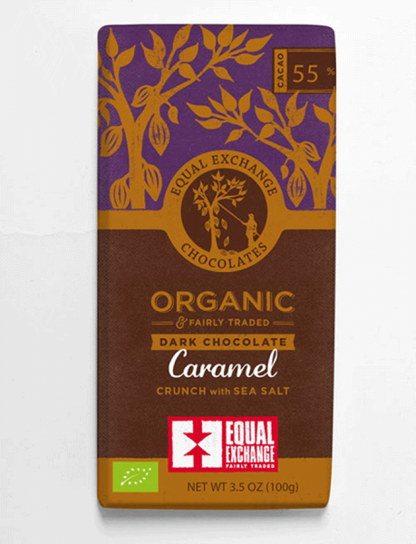 Equal Exchange Organic Dark Chocolate Caramel with Seasalt 100G
