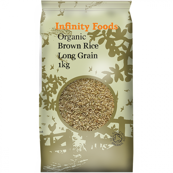 Infinity Organic Brown Long Grain Rice 1Kg