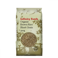 Infinity Organic Brown Short Grain Rice 500G