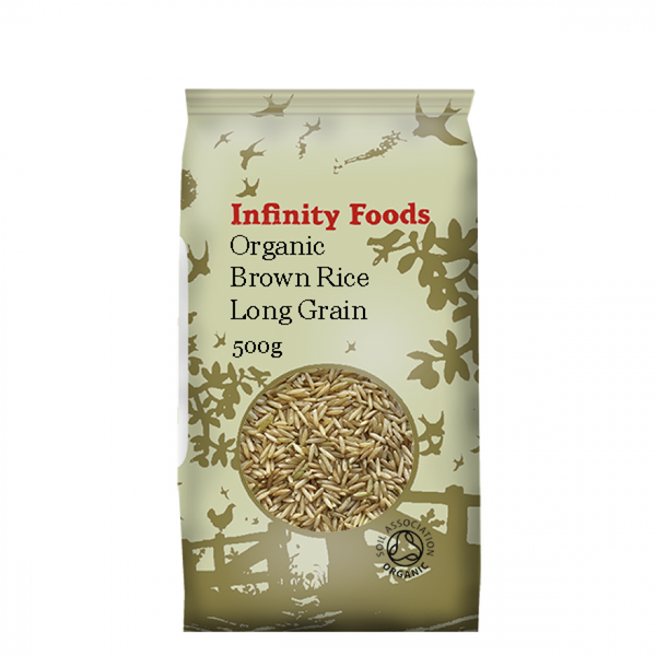 Infinity Organic Brown Long Grain Rice 500G