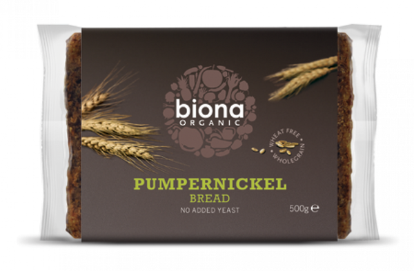 Biona Organic Pumpernickel Bread 500G