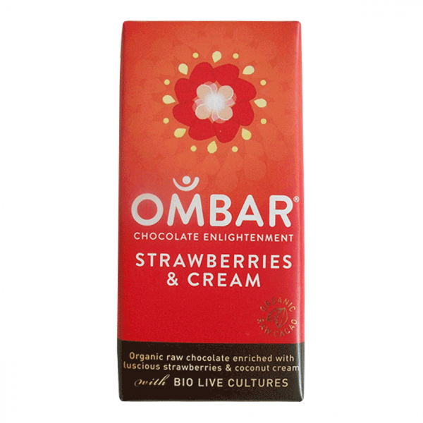 Ombar Organic Strawberry chocolate (raw) 35G