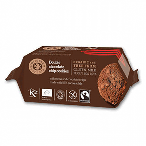 Doves Organic Double Chocolate Cookies Gluten-free 180G