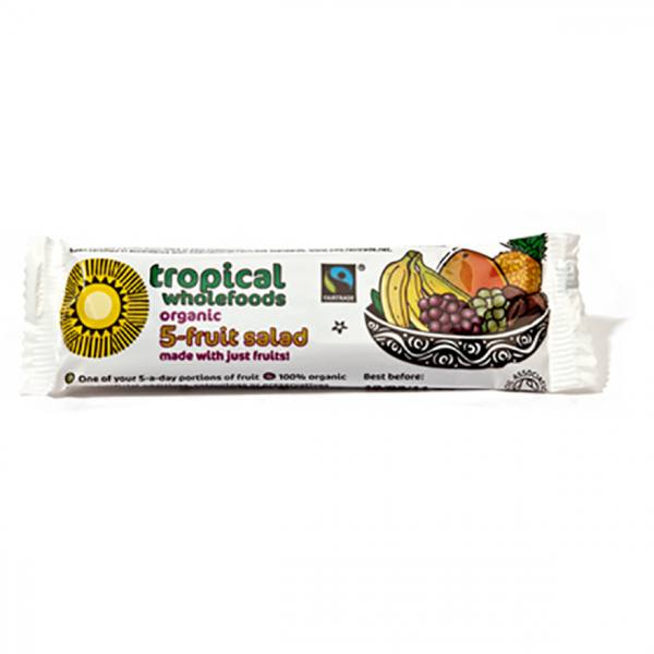 Tropical Wholefoods Organic 5-Fruit Salad Bar 40G
