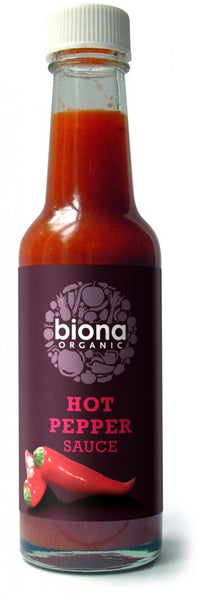 Biona Organic Hot Pepper Sauce 140Ml
