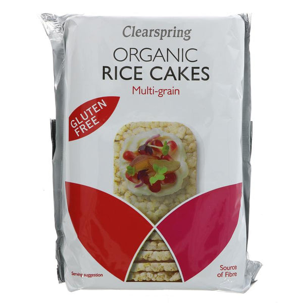 Clearspring Organic Multigrain Rice Cakes Salted