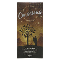 Conscious Organic four nuts raw chocolate 60G