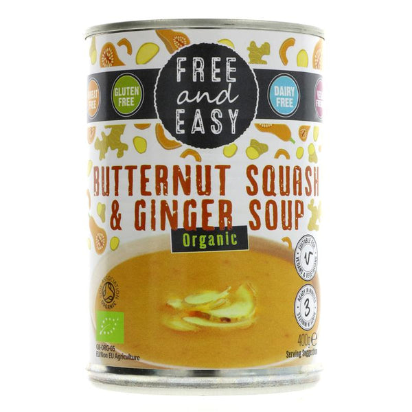 Free & Easy Organic butternut squash and ginger soup 400g