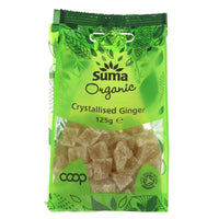 Suma Organic Crystallised ginger 125G