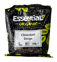 Essential Organic chocolate baking drops 125G