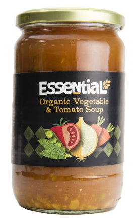 Essential Organic vegetable and tomato soup 680g