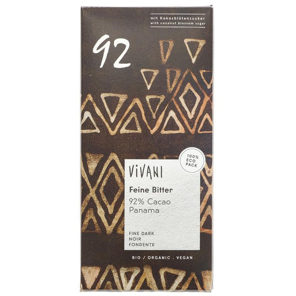 Vivani Organic 92% Dark Chocolate 80g