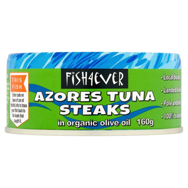 Fish 4 Ever Azores tuna steak in Organic olive oil 160g