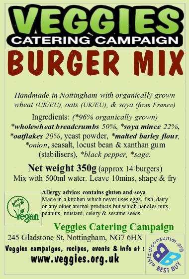 Veggies Organic Burger Mix 350G