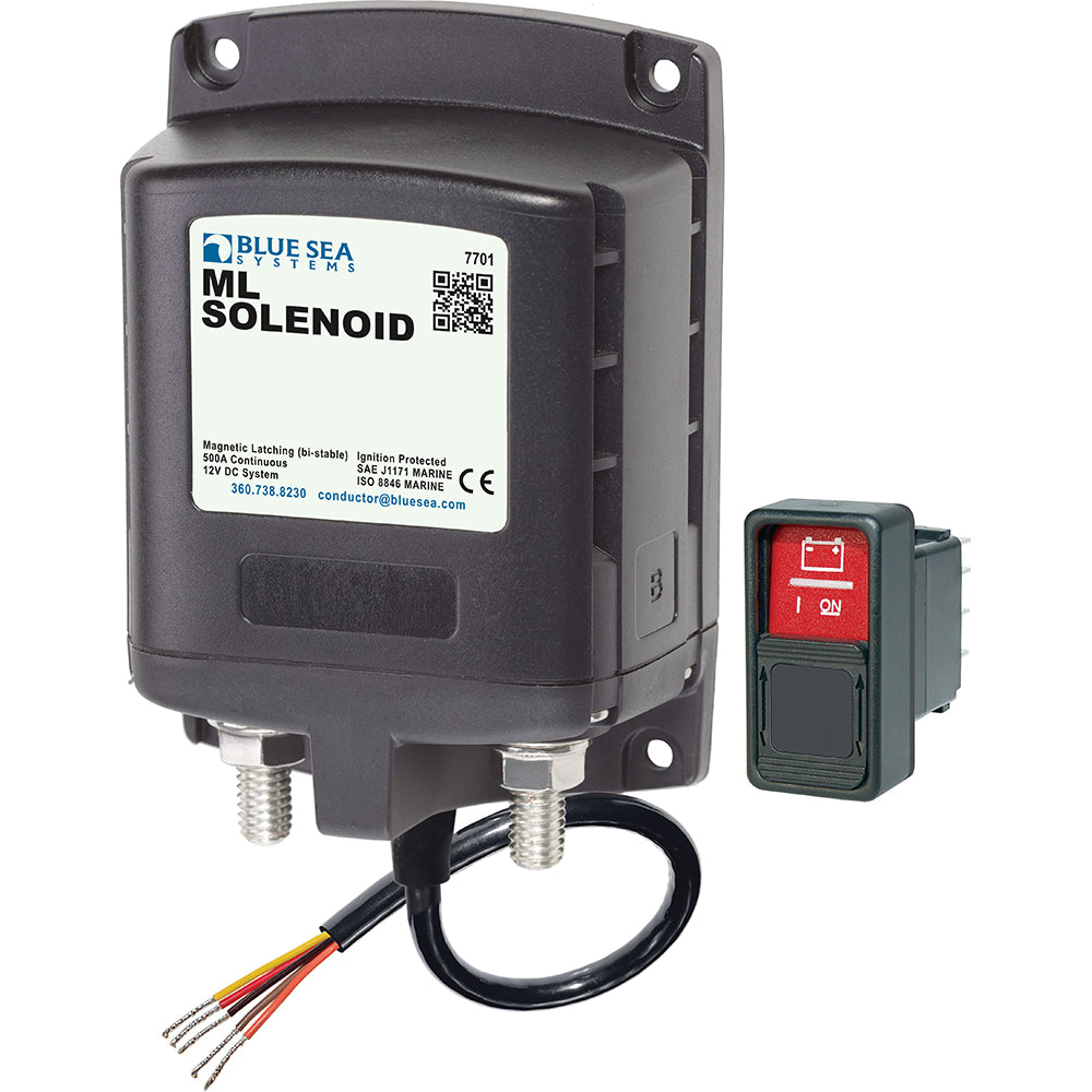 Blue Sea 7701 ML-Series Solenoid w-Contura Switch 12VDC