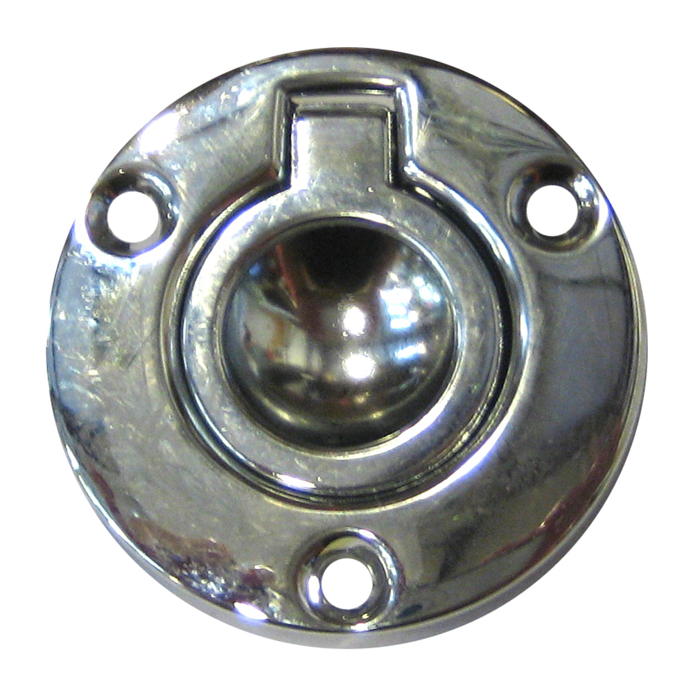 "Perko Round Flush Ring Pull - 2"" - Chrome Plated Zinc"