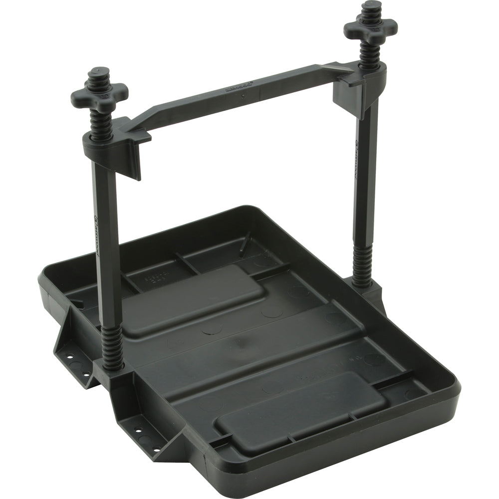 Attwood Heavy-Duty All-Plastic Adjustable Battery Tray - 27 Series