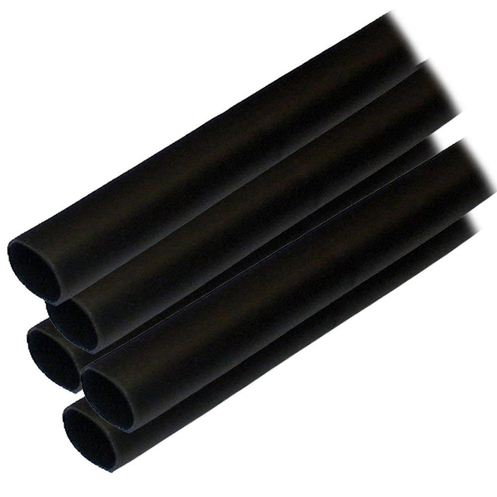 "Ancor Adhesive Lined Heat Shrink Tubing (ALT) - 1-2"" x 6"" - 5-Pack - Black"