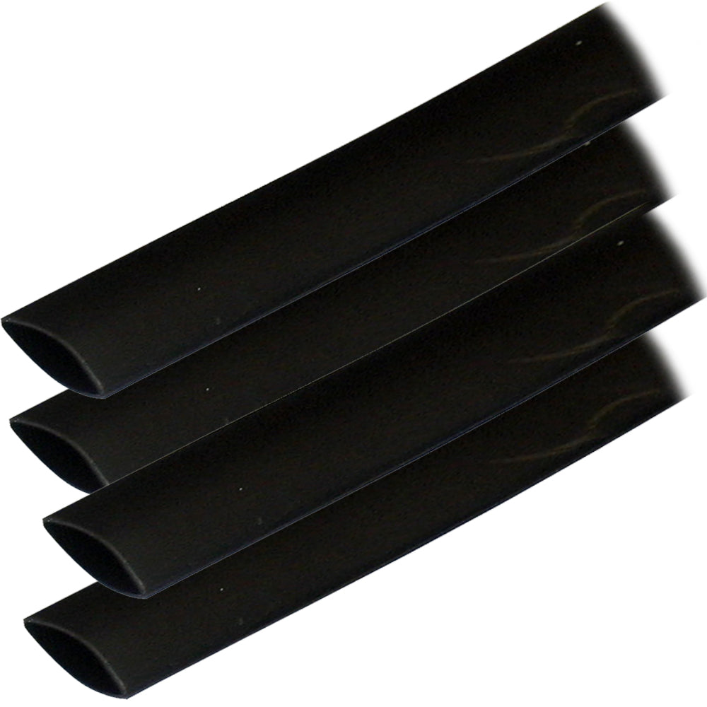 "Ancor Adhesive Lined Heat Shrink Tubing (ALT) - 3-4"" x 6"" - 4-Pack - Black"