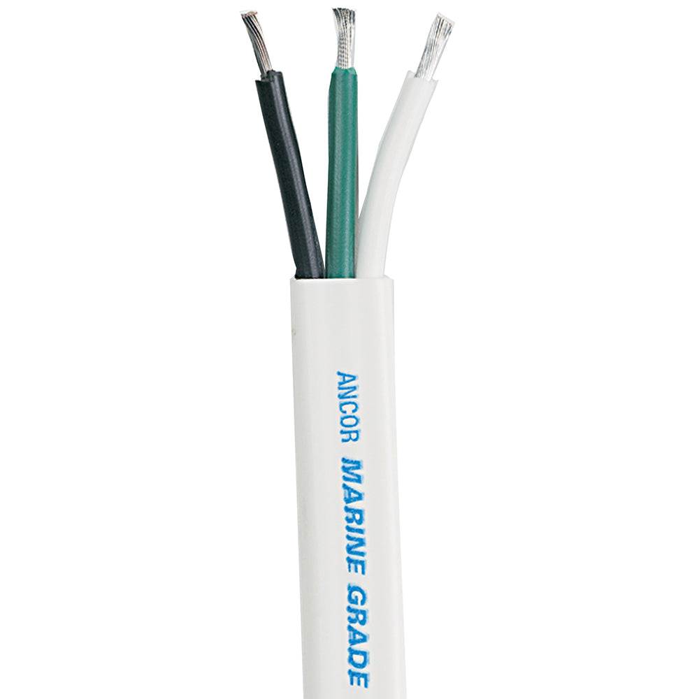 Ancor White Triplex Cable - 8-3 AWG - Flat - 50'