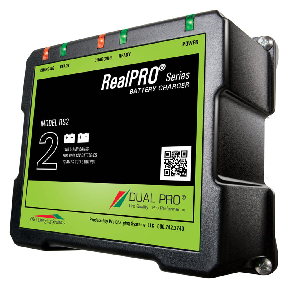 Dual Pro RealPRO Series Battery Charger - 12A - 2-6A-Banks - 12V-24V