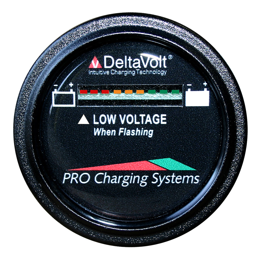 Dual Pro Battery Fuel Gauge - DeltaView® Link Compatible - 24V System (2-12V Batteries, 4-6V Batteries)