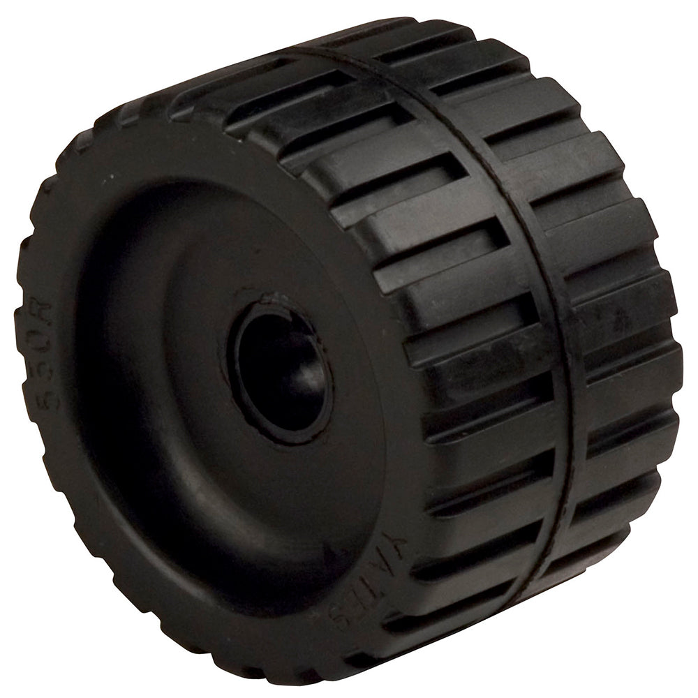 "C.E. Smith Ribbed Wobble Roller 5-7-8""ID w-Bushing Black"