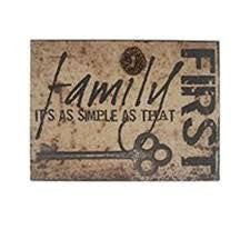 Family First Wood Wall Box Sign