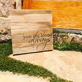 You Are Love Always Print Wood Pallet Shadow Box Sign
