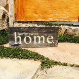 Home Sweet Home Print Reclaimed Barn Wood Pallet Shadow Box Sign