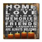 Home Is Where Love Resides Lighted Canvas Wall Art