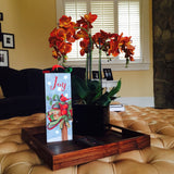 Joy Saying With Cardinal Bird Lighted Print Wall Art