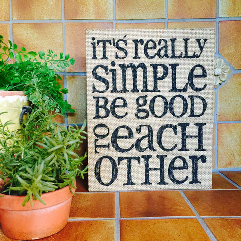 Inspirational Quote Sayings on Burlap Wood Shadow Box Sign
