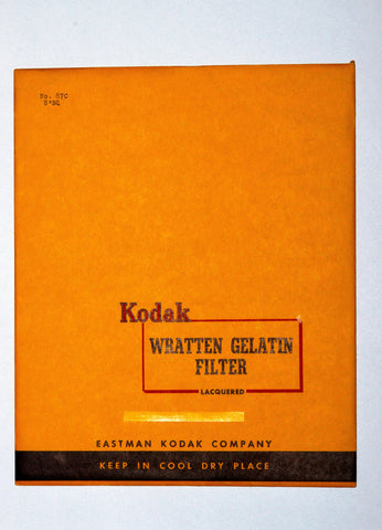 NEW/OLD STOCK KODAK WRATTEN 87C 8X8 INCH 203mm GELATIN FILTER