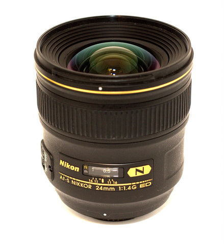 AF-S NIKKOR 24/1.4 G ED NIKON 24MM 1:1.4 LENS, LIKE NEW