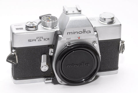 MINOLTA SRT 101 35mm FILM CAMERA BODY ONLY, EXCELLENT