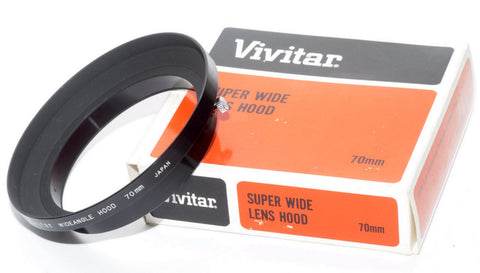 NEW VIVITAR SUPER WIDE ANGLE METAL LENS SHADE 67mm