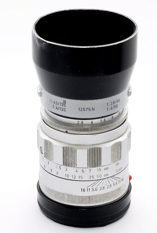 LEITZ TELE-ELMARIT FAT 90/2.8 CHROME M LENS, VERY EARLY VERSION 1 1964 2001XXX