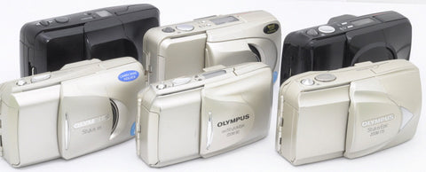 OLYMPUS STYLUS 35mm COMPACT AUTOMATIC CAMERAS, VARIOUS MODELS, $75 to $125